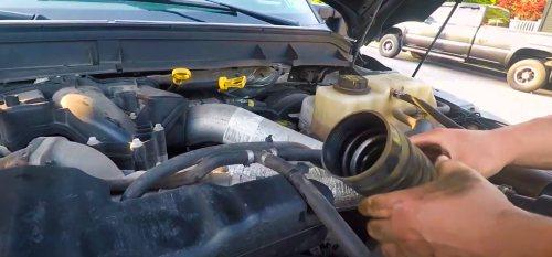 6-7 powerstroke intercooler pipe replacing