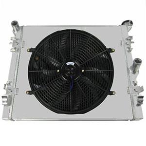 OzCoolingParts Aluminum Radiator + 16-Inch Cooling Fan for 2007-2015 Jeep Wrangler JK 3.6 3.8 V6 Engine