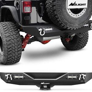 Nilight 2007-2018 Jeep Wrangler JK Rear Bumper