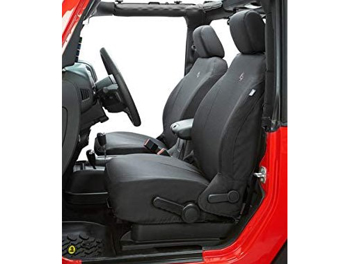 Black Diamond Front Seat Covers for 2007–2012 Jeep Wrangler