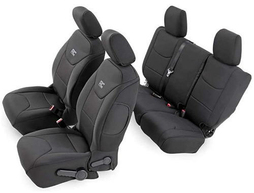 Rough Country Black Neoprene Seat Cover 91002A